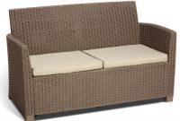 ausgezeichnete allibert 212454 lounge set corona 2 sessel 1 sofa 1 tisch rattanoptik kunststoff cappuccino bild