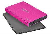 erstaunliche bipra 320 gb 63 cm usb 20 fat32 pocket slim externe festplatte pink bild