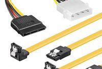 erstaunlich baytronic sata kabel set 2x 05m mit verriegelung gewinkelt 4 pin stromadapter foto