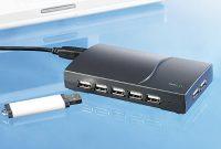 fantastische xystec usb hub mit netzteil aktiver usb 20 hub mit 13 portsshisan usb hub fur laptop notebook bild