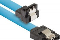 schone poppstar 1x 50cm s ata 3 hdd ssd datenkabel stecker gerade auf gewinkelt bis zu 6 gbits sata kabel fur dvd blueray festplatte motherboard pc case modding uvm blau bild