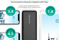 awesome ravpower 26800mah powerbank externer akku 55a ausgang ismart fur iphone x 8 8 plus 7 6s ipad galaxy s8 s8 plus und andere smartphone tablet usw schwarz foto