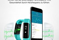 erstaunliche mpow ip68 wasserdichte smart fitness armbander mit pulsmesser oled bildschirm herzfrequenz monitor aktivitatstracker podometer fur android ios smartphones zb iphone 77 plus6s bild