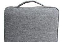 fabelhafte damero organiser reisetasche tragetasche fur elektronische zubehore wie ipad kabel grau foto
