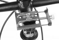 fantastische gvdv soporte movil bicicleta de aluminio soporte telefono para bici moto y gps 360 rotacion para 35 hasta 62 plata foto