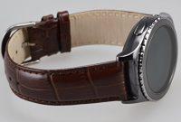 fabelhafte okcs samsung gear s2 classic kroko echt leder armband dunkelbraun bild