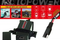 schone motopower mp0609aa 31a wasserdichtes motorrad usb ladegert sae kit mit usb adapter bild