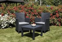wunderbare allibert 219992 lounge set rosario balcony 2x sessel und 1x tisch rattanoptik kunststoff graphit bild