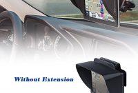 schone tfy gps sonnenblende fur navigationsgerate mit flexibler visiererweiterung fur das garmin nuvi 42lm 43 zoll portable sowie andere 5 zoll navigationsgerate bild