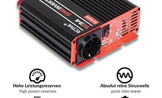 am besten ective 300w 12v auf 230v si serie reiner sinus wechselrichter in 7 varianten 300w 3000w bild