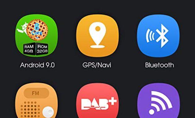 am besten pumpkin android 90 autoradio radio mit navi und dvd player 4gb 8 core unterstutzt bluetooth dab usb cd dvd android auto wifi 4g microsd 2 din 62 zoll bildschirm universal bild