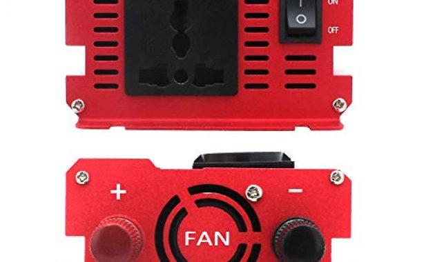 erstaunliche spannungswandler 12v 230v 1000w 2000w wechselrichter mit 3 steckdose und 4 usb led spannungsanzeige foto