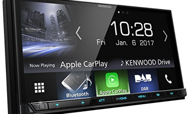 fabelhafte kenwood dmx7017dabs av receiver mit 177cm touchscreen dab bluetooth apple carplay android auto usb 4 x 50 watt schwarz bild
