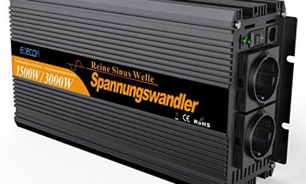 fabelhafte wechselrichter reiner sinus 1500 3000w spannungswandler 12v 230v spannungswandler reiner sinus inverter pure sine wave bild