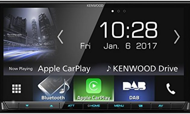 fantastische kenwood dmx7017dabs av receiver mit 177cm touchscreen dab bluetooth apple carplay android auto usb 4 x 50 watt schwarz bild