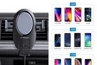 fantastische vanmass wireless charger auto handyhalterung elektronisch motor betrieben 15w10w75w5w qi ladestation auto mit 2 luftungsklammer fur iphone xsxrx8 galaxy note 10 note 9s10 foto