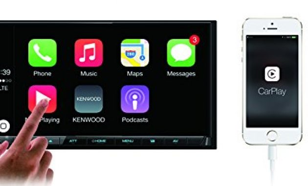 schone kenwood dmx7017dabs av receiver mit 177cm touchscreen dab bluetooth apple carplay android auto usb 4 x 50 watt schwarz foto