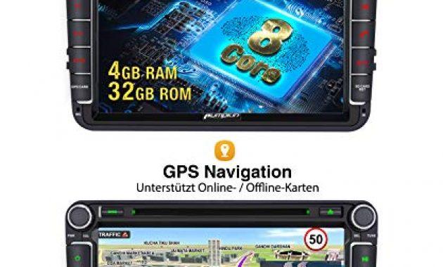 wunderbare pumpkin android 90 autoradio fur vw radio mit navi 4gb 8 core unterstutzt bluetooth dab cd dvd wifi 4g android auto usb microsd 8 zoll bildschrim 2 din foto