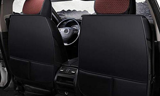 am besten ax sitzbezug komfortabler autositzbezug aus leder kompatibel mit atmungsaktiven airbag schutzpolstern vorne und hinten color brown foto