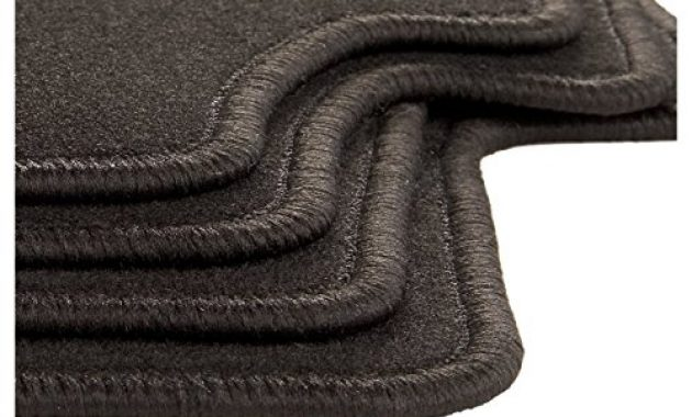 am besten carfashion 281872 starlight passform auto fussmatten tuft velour automatte polyamid velours fussmatte in schwarz schwarze hochglanz kettelung 4 teiliges auto fussmatten set mi foto