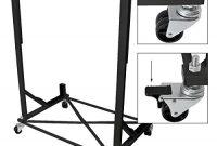 am besten ecd germany hs1000w hardtopstander aus stahl schwarz mit 4 rollen inkl abdeckhaube hardtop stander halter aufbewahrung trolley bild