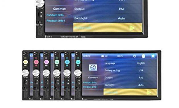 am besten lacaca 178 cm hd touchscreen indash auto stereo mp5 player unterstutzung bluetooth fmsdusbaux eingang freisprechfunktion anrufe macht ausgang fernbedienung bild