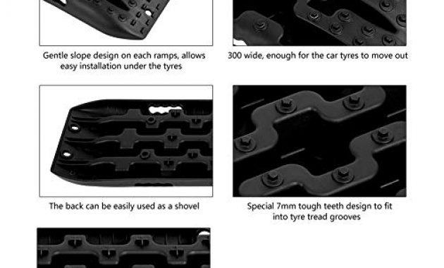 am besten reifenleiter 2 stucke 10 t fahrzeug recovery traction tracks sandschlamm schnee track reifen leiter fur off road 4x4 107 x 30 x 5 cmschwarz foto