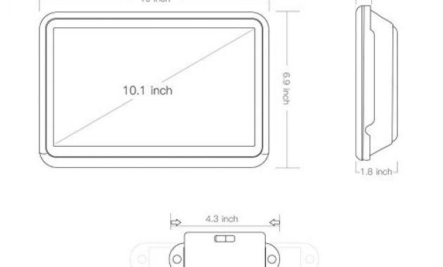 am besten tablet android 60 i tragbarer dvd player 101 zoll i ips touchscreen autokopfstutze multimedia monitor i bluetooth 40 i eingebauter 4000mah akku unterstutzt hdmi fm wifi bild