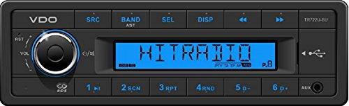am besten vdo 24 volt lkw radio rds tuner mp3 wma usb truck bus 24v tr722u bu bild