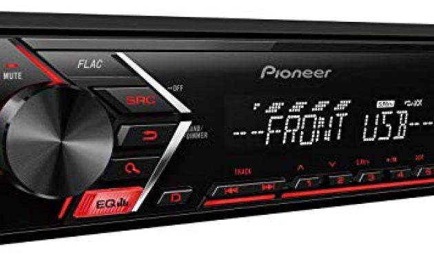 ausgefallene caraudio24 pioneer mvh s100ub usb aux mp3 1din autoradio fur opel corsa c iso 2000 2004 aluminium bild