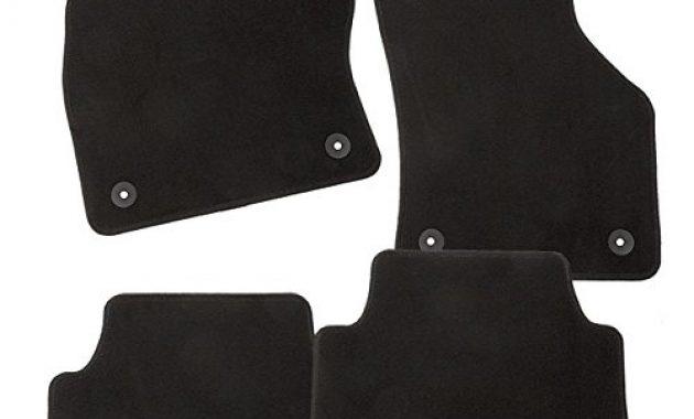 ausgefallene carfashion 281872 starlight passform auto fussmatten tuft velour automatte polyamid velours fussmatte in schwarz schwarze hochglanz kettelung 4 teiliges auto fussmatten set bild