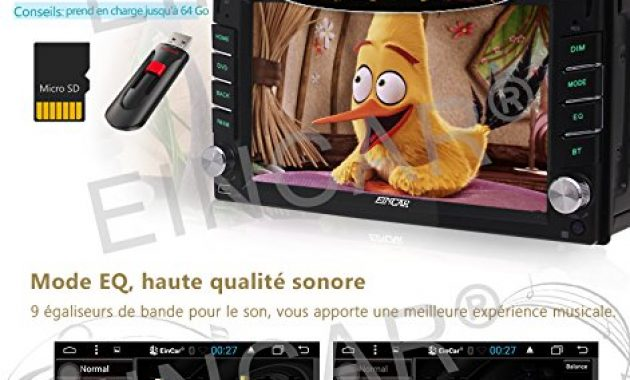 ausgefallene eincar car radio dvd player android 60 marshmallow stereo system universal double din capacitive touch screen 62inch car dvd player support bluetooth gps navigation steering wheel bild