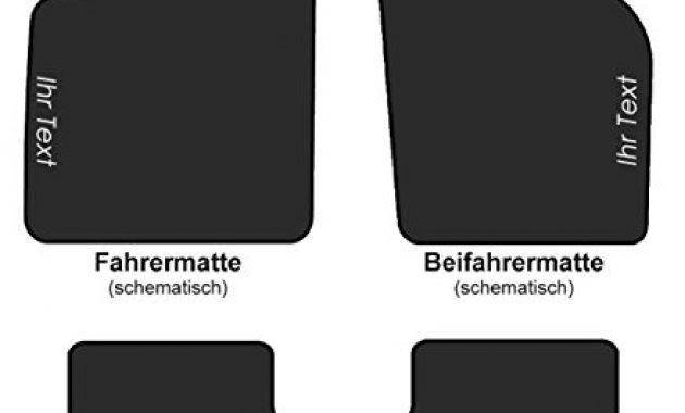 ausgefallene fussmatten velour 8p automatten bestickt mit wunschtext 4 teilig textfarbe weiss bild