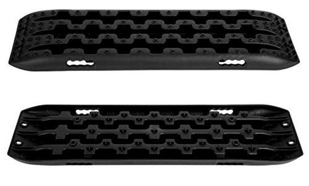 ausgefallene reifenleiter 2 stucke 10 t fahrzeug recovery traction tracks sandschlamm schnee track reifen leiter fur off road 4x4 107 x 30 x 5 cmschwarz foto
