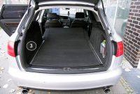 ausgefallene tuning art 2803 kofferraummatte 3 teilig ruckbankschutz ladekantenschutz bild