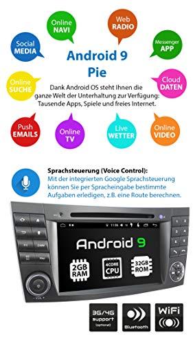 ausgefallene xomax xm 08za autoradio passend fur mercedes w211 w219 w463 mit android 90 4core 2gb rom 32gb ram gps navi dvd cd i support wifi 4g dab obd2 i bluetooth 7zoll 18cm touch foto