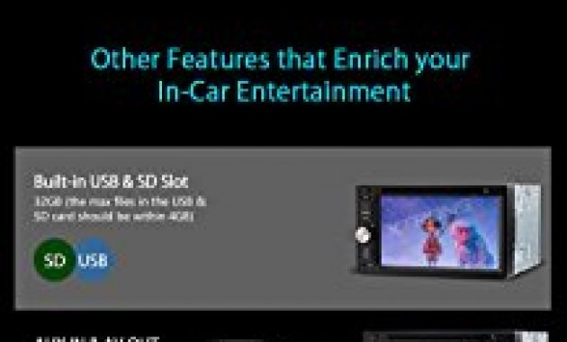 ausgefallene xtrons 62 hd tft touchscreen double din autoradio auto naviceiver dvd player unterstutzt dab gps navigation bluetooth50 2din rds lenkradfernbedienung windows ce bild