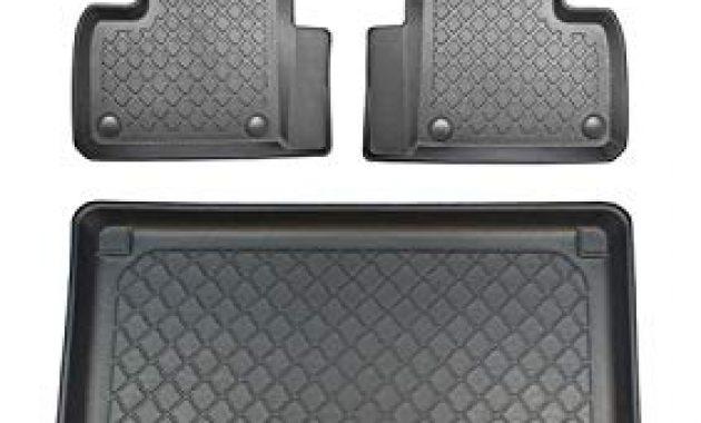 ausgefallene zentimex z392873 set kofferraumwanne gummifussmatten klettnetztasche laderaumwanne kofferraummatte automatten bild