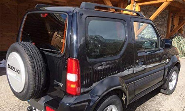 ausgezeichnete auto sonnenschutz fertige passgenaue scheiben tonung sonnenblenden keine folien vorsatzscheiben suzuki jimny mit kurzem 3 bremslicht 16 cm ab bj 98 bis 18 bild