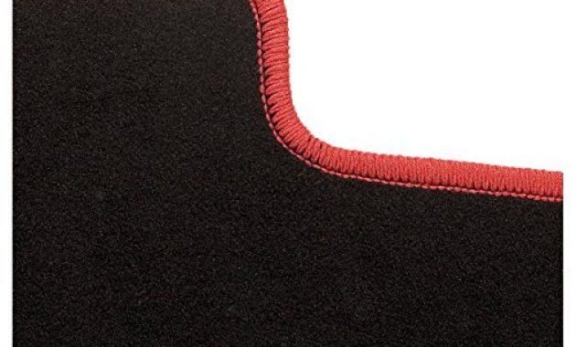 ausgezeichnete carfashion 282132 starlight passform auto fussmatten tuft velour automatte polyamid velours fussmatte in schwarz rote hochglanz kettelung 4 teiliges auto fussmatten set m bild