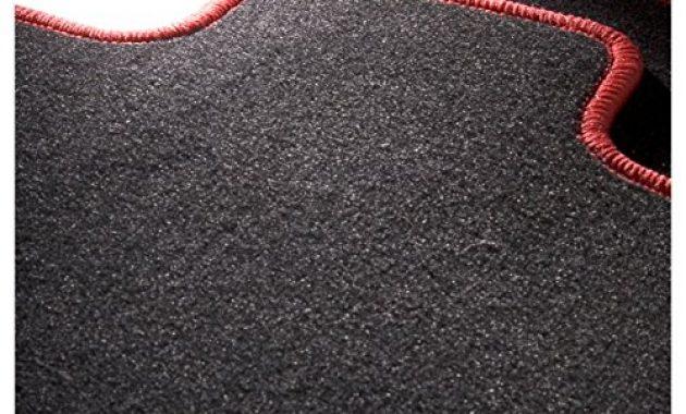 ausgezeichnete carfashion 282132 starlight passform auto fussmatten tuft velour automatte polyamid velours fussmatte in schwarz rote hochglanz kettelung 4 teiliges auto fussmatten set m foto