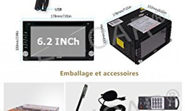 ausgezeichnete eincar car radio dvd player android 60 marshmallow stereo system universal double din capacitive touch screen 62inch car dvd player support bluetooth gps navigation steering whee foto