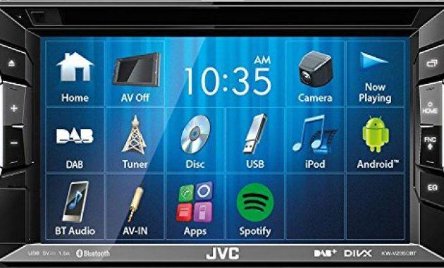 ausgezeichnete jvc autoradio 2 din spotify control mit bluetooth fur toyota avensis t25 2003 2009 incl einbauset schwarz bild