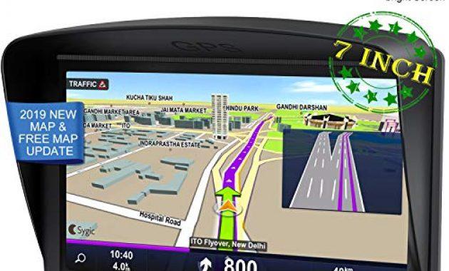 ausgezeichnete navigationsgerate fur auto gps 7 zoll pkw lkw navi navigation fuer auto europa kostenloses kartenupdate navigationsgerat mit sprachsteuerung hohe helligkeit kapazitiver to foto