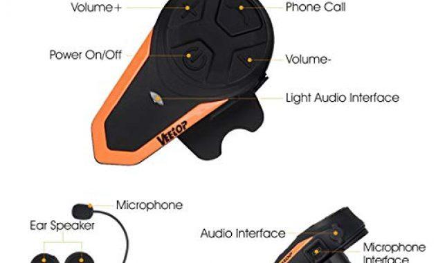 ausgezeichnete veetop motorrad bluetooth headset bis zu 3 benutzer 2er set intercom foto