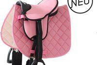 ausgezeichnete zubehor set rosa sattel halfter fuhrstrick putzburste fur mini shetty holzpferd foto