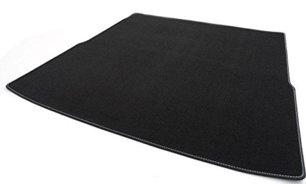 awesome kh teile kofferraummatte velours automatte premium qualitat stoffmatte schwarz nubukleder einfassung mit weisser naht foto