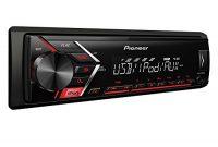 awesome pioneer mvh s100ui 12 din autoradio mit aux in und usb rds tuner wiedergabe von mp3 wma wav flacmos fet 4x 50w rot bild