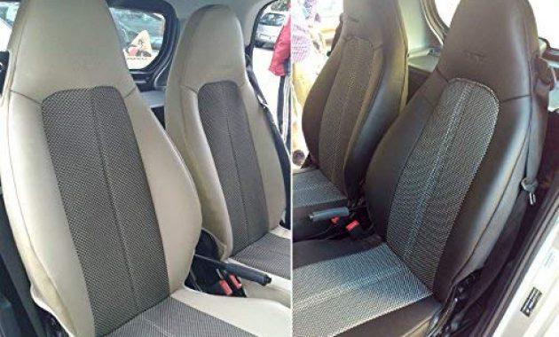 awesome topcar athens zwei auto sitzbezuge aus synthetischem und kunstleder kompatibel mit smart fortwo 451 100 passgenau auto sitzbezuge schwarz grau bild