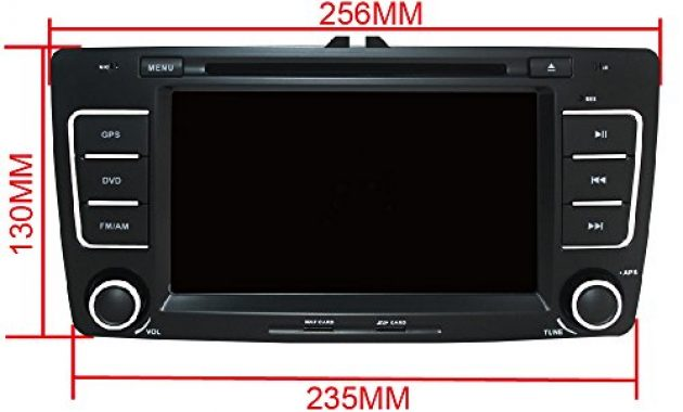 awesome yingly 7 zoll 2 din autoradio fur skoda octavia 2009 2013 mit wince system dvd player gps navigation radio bluetooth unterstutzt park kamera lenkrad bedienung 1080p video 8gb kartenmate bild